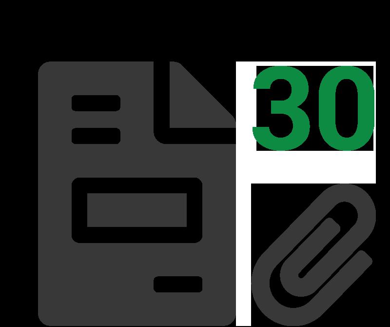 Rekenvoorbeeld 30 klanten