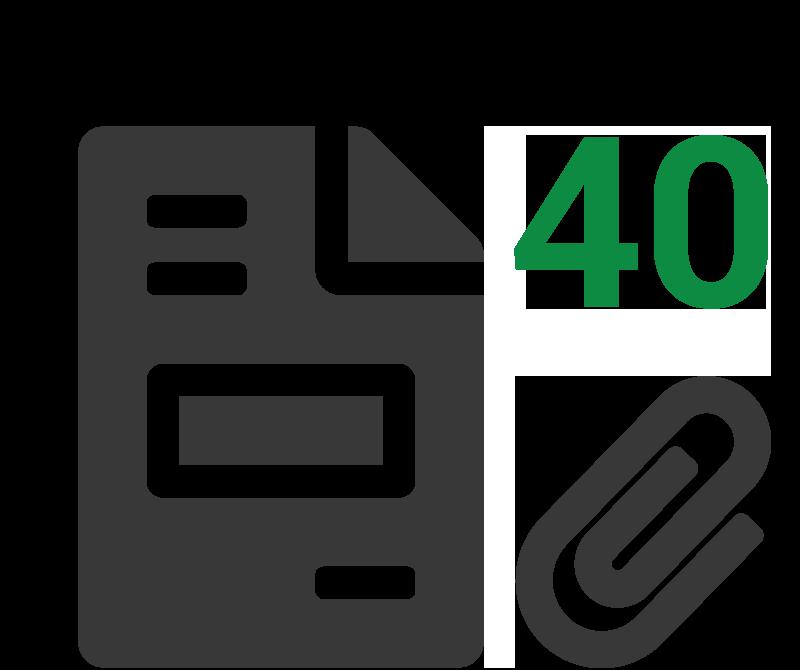 Rekenvoorbeeld 40 klanten