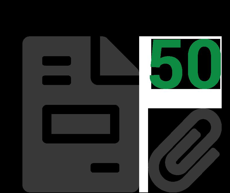 Rekenvoorbeeld 50 klanten